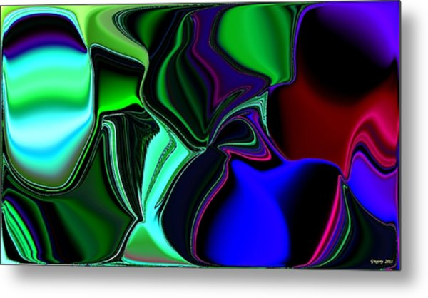 Green Nite Distortions 4 Metal Print