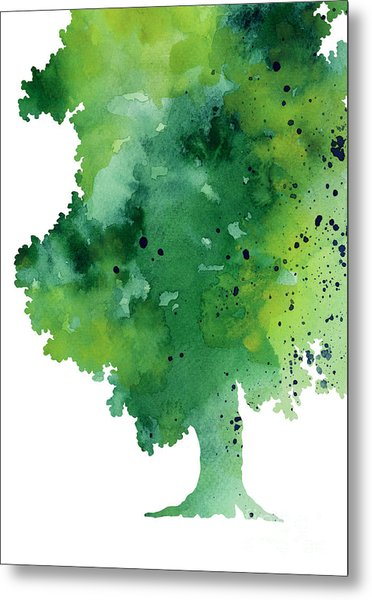 Green Oak Fine Art Print Metal Print