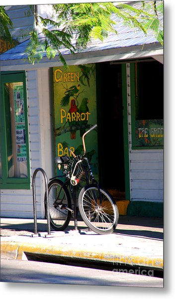 Green Parrot Bar Key West Metal Print