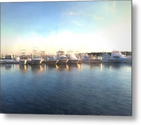 Green Pond Harbor Metal Print