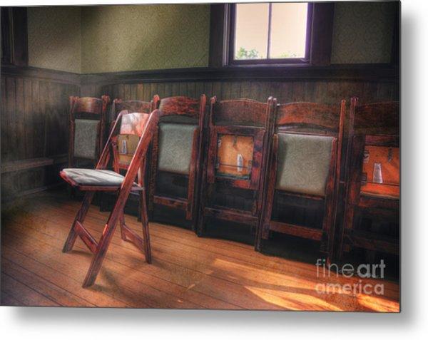 Green Seat Chair # 2 Metal Print