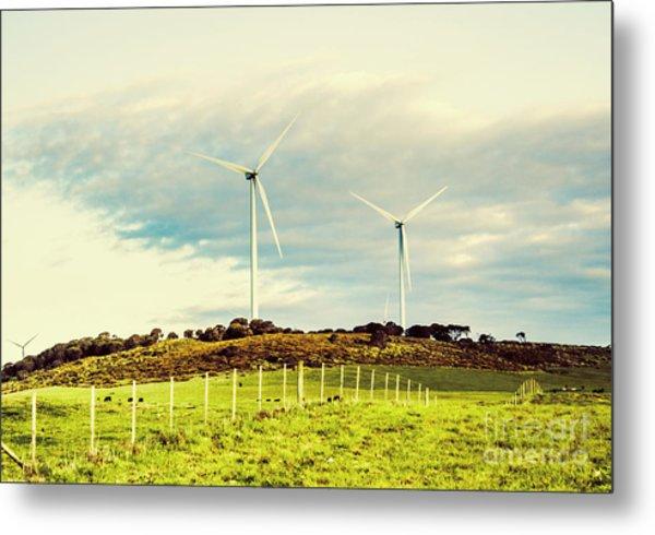 Green Tasmania Metal Print