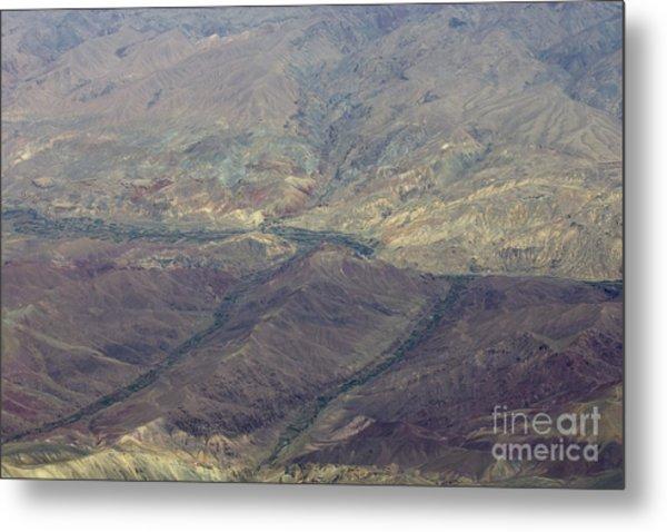 Green Valleys In Red Hills Metal Print by Tim Grams