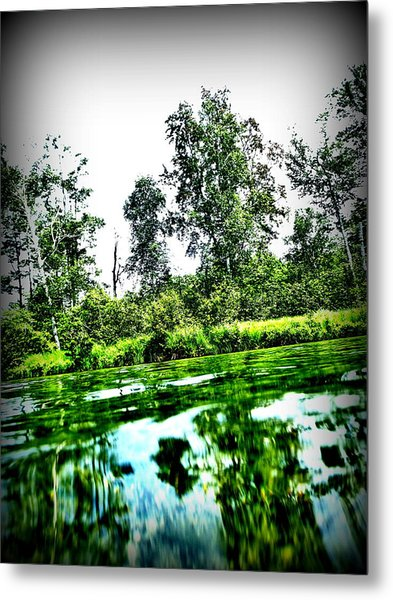 Green Waters Metal Print