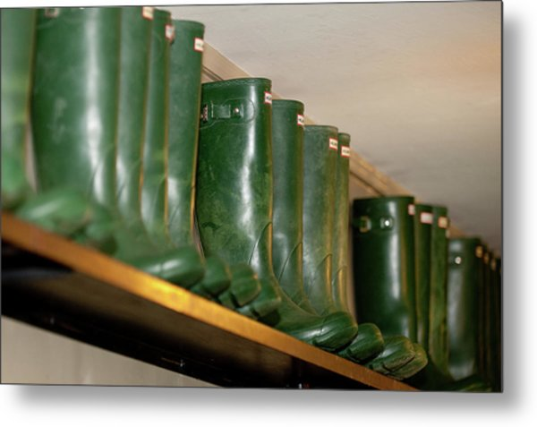 Green Wellies Metal Print