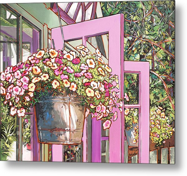 Greenhouse Doors Metal Print