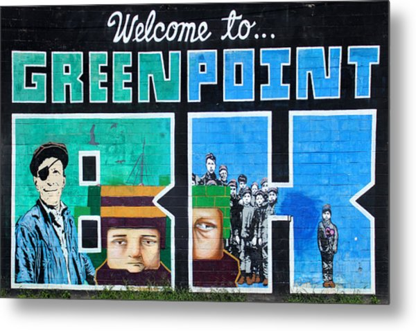 Greenpoint Brooklyn Wall Graffiti Metal Print