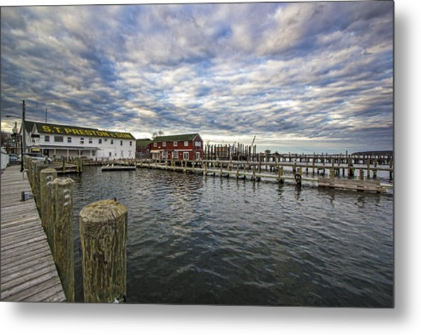 Greenport Dock Metal Print