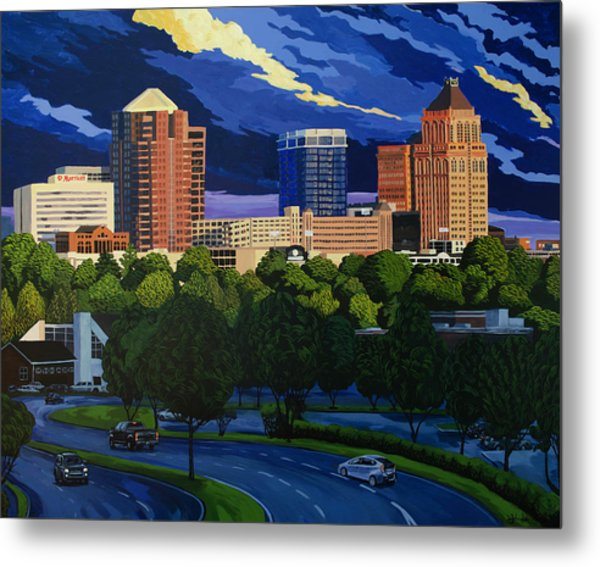 Greensboro Skyline In The Sunshine Metal Print