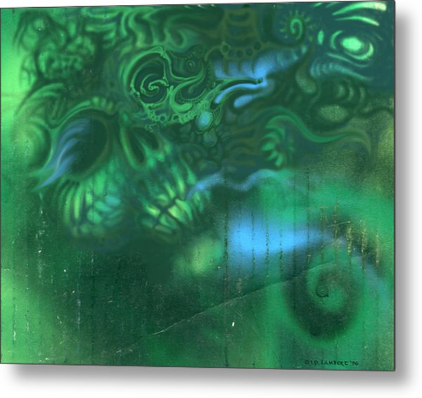 Greenskull Metal Print by J P Lambert