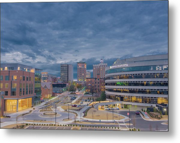 Metal Print featuring the photograph Greenville Night 1 by David Waldrop