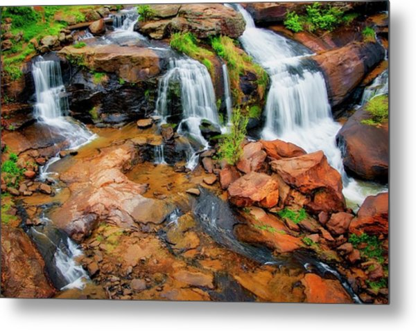 Greenville's Reedy River Falls, South Carolina Metal Print