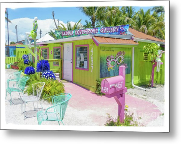 Metal Print featuring the photograph Greetings From Matlacha Island  Florida by Edward Fielding