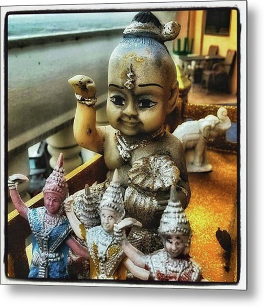 Metal Print featuring the photograph Greetings From Thailand. These Jolly by Mr Photojimsf