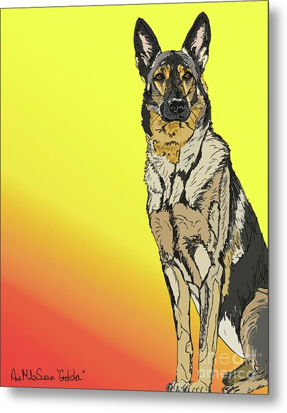 Gretchen In Digital Metal Print