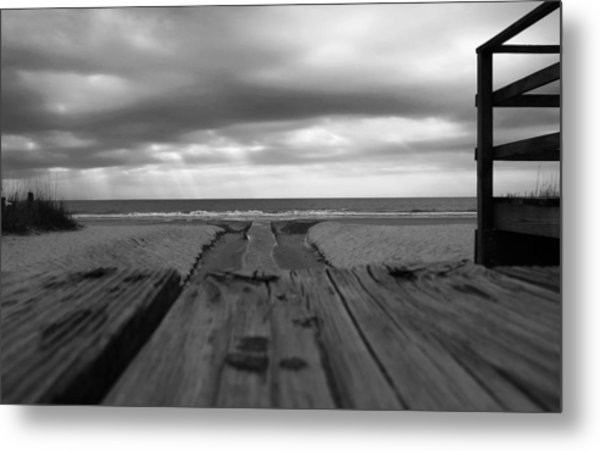 Grey Beach Metal Print