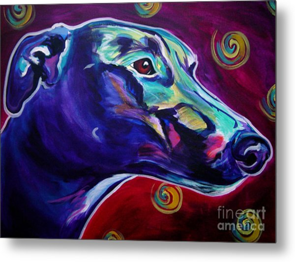 Greyhound -  Metal Print