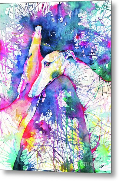 Greyhound Trance Metal Print