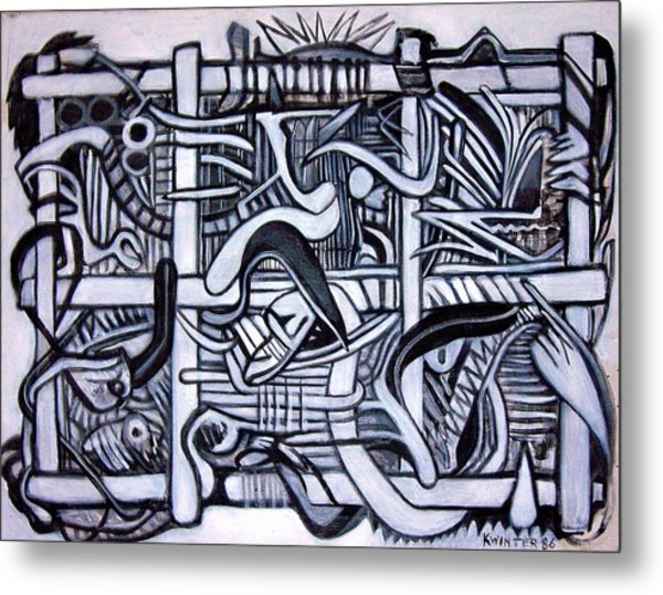 Grid Metal Print by Dave Kwinter