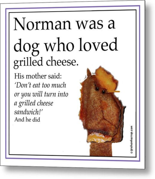 Grilled Cheese Dog Metal Print