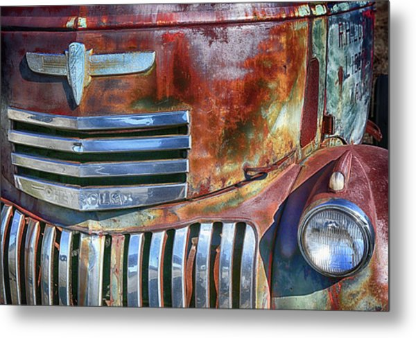 Grilling With Rust Metal Print
