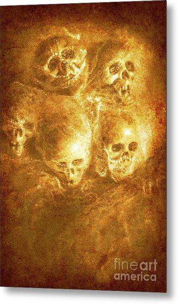 Grim Tales Of Burning Skulls Metal Print