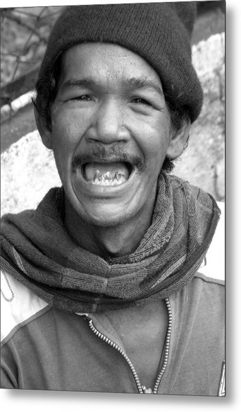 Grin And Bare It Metal Print by Jez C Self