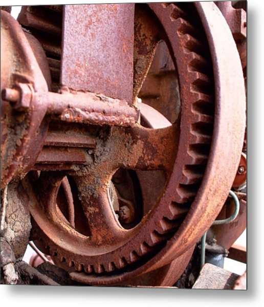 Grind #tractor #gears #decay Metal Print