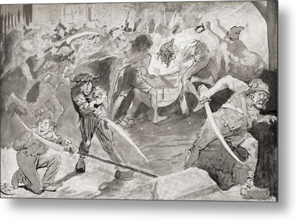Grindstone What With The Stream Metal Print By Vintage Design Pics