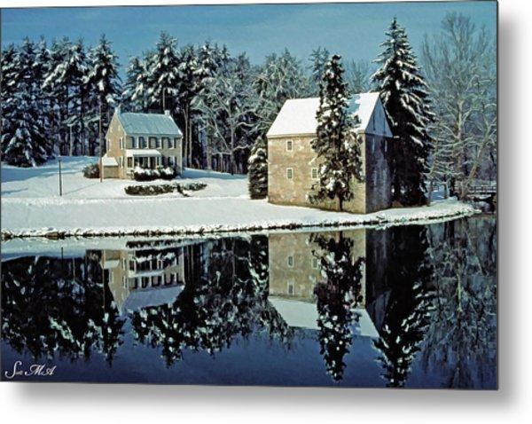 Grings Mill Snow 001 Metal Print