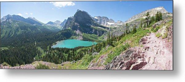 Grinnell Lake Panoramic - Glacier National Park Metal Print