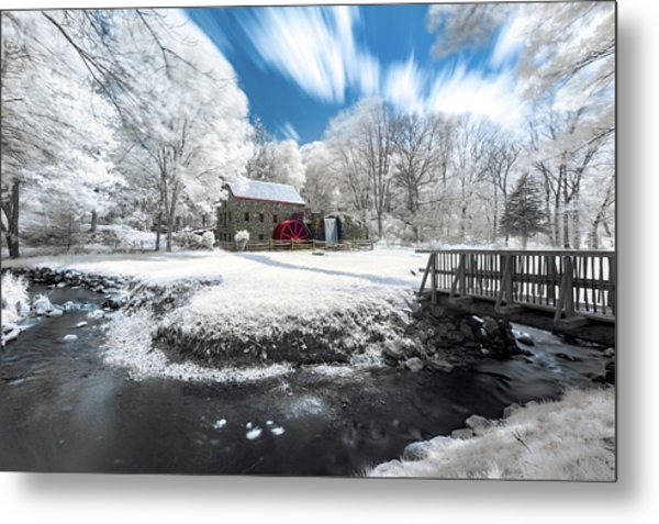 Grist Mill In Halespectrum Metal Print