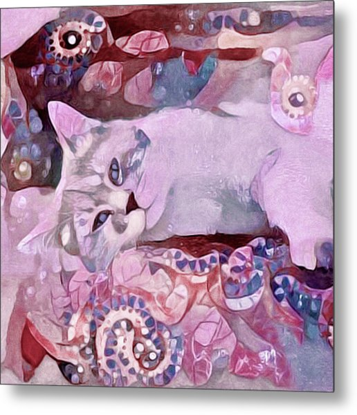 Metal Print featuring the mixed media Grizabella by Susan Maxwell Schmidt