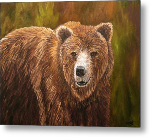 Grizzley Metal Print