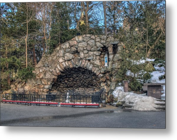 Grotto At Notre Dame University Metal Print