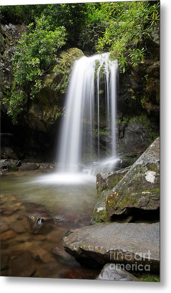 Metal Print featuring the photograph Grotto Falls Vertical by Jemmy Archer
