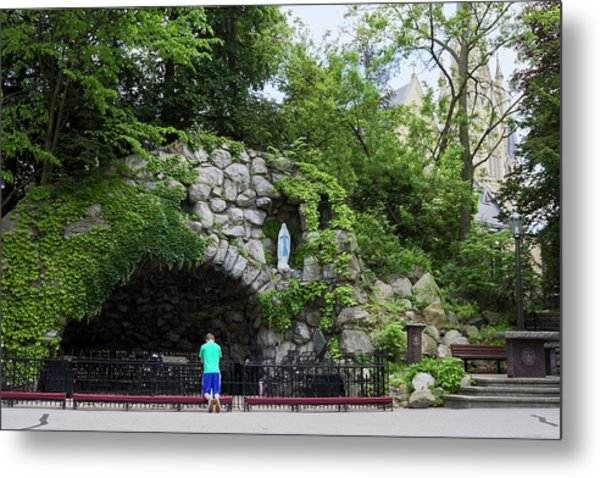 Grotto Of Our Lady Of Lourdes Metal Print