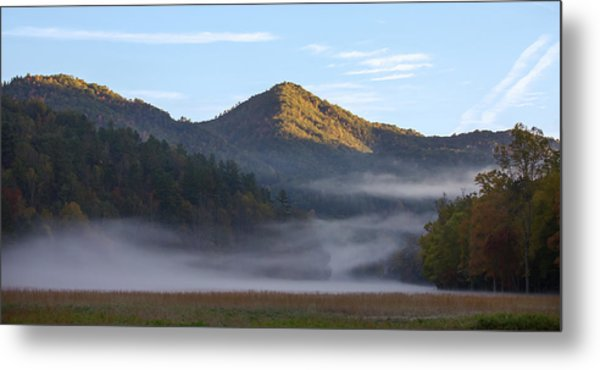 Ground Fog In Cataloochee Valley - October 12 2016 Metal Print