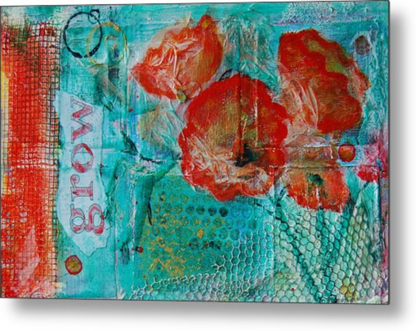 Metal Print featuring the painting Grow 8x12 by Jocelyn Friis