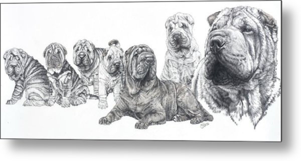 Mister Wrinkles And Family Metal Print