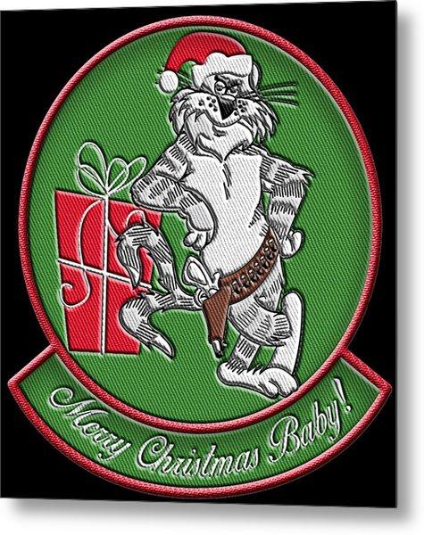 Grumman Merry Christmas Metal Print