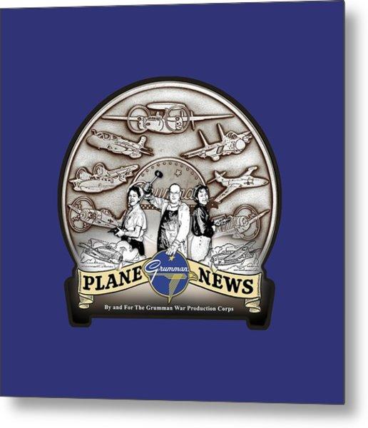 Grumman Plane News Metal Print