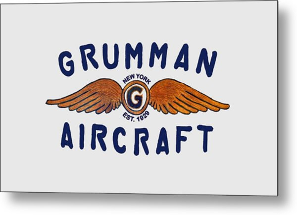 Grumman Wings Blue Metal Print