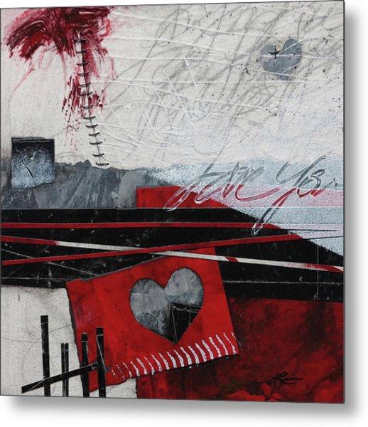 Grunge Heart  Metal Print