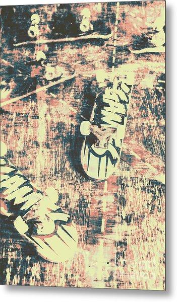 Grunge Skateboard Poster Art Metal Print