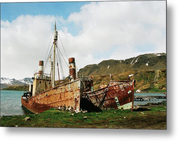 Grytviken Ghosts Metal Print