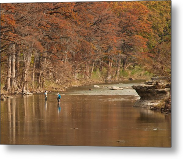 Guadalupe River Fly Fishing Metal Print