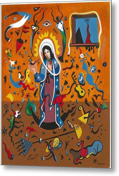 Guadalupe Visits Miro Metal Print