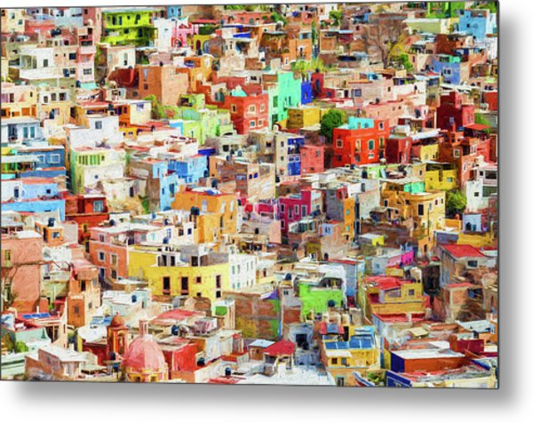 Metal Print featuring the photograph Guanajuato 1, Mexico. by Rob Huntley