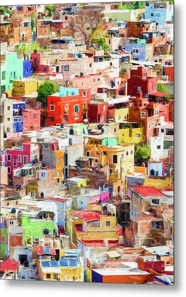 Metal Print featuring the photograph Guanajuato 2, Mexico. by Rob Huntley